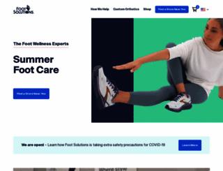 footsolutions.com screenshot