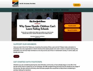 footstepsorg.org screenshot