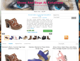 footwear.katalique.com screenshot