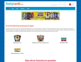 footycards.com screenshot