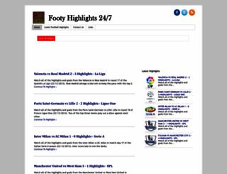 footyhighlights247.blogspot.com.au screenshot