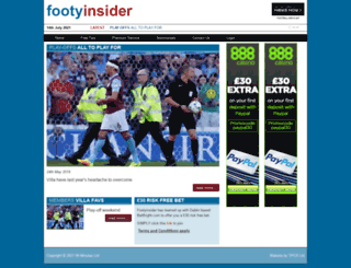 footyinsider.co.uk screenshot