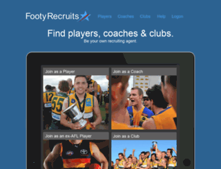 footyrecruits.com screenshot