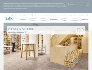 forbo-flooring.es screenshot