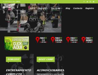 forcefit.com.mx screenshot