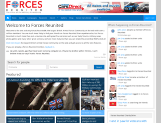 forcesreunited.co.uk screenshot