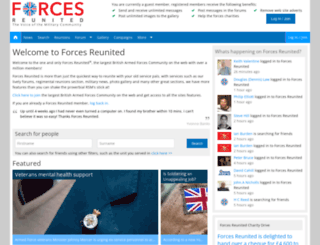 forcesreunited.org.uk screenshot