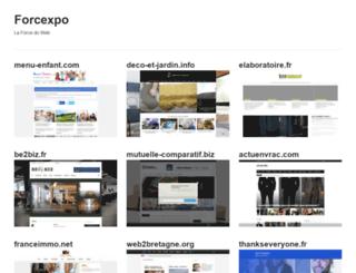 forcexpo.fr screenshot