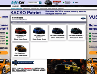 ford-fiesta.infocar.ua screenshot