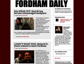 fordhamdaily.com screenshot