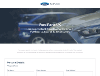 fordpartsuk.com screenshot