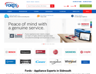 fordsappliances.co.uk screenshot