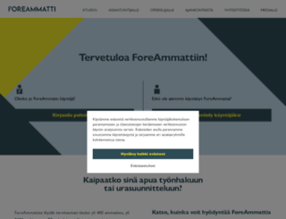 foreammatti.fi screenshot