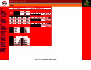 forecast-sports-toto.freehostia.com screenshot