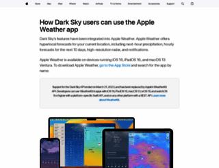 forecast.io screenshot