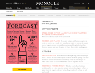 forecast.monocle.com screenshot