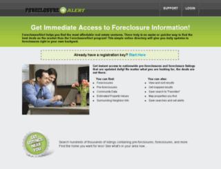foreclosurealert.com screenshot