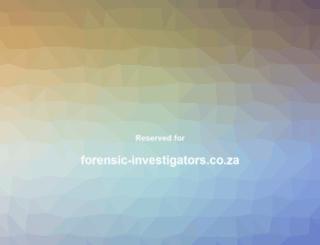 forensic-investigators.co.za screenshot