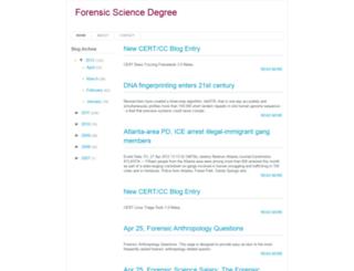 forensicsciencedegree.blogspot.in screenshot