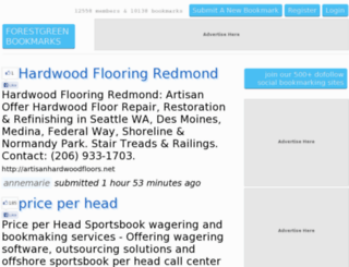 forestgreen.w3bookmarks.com screenshot