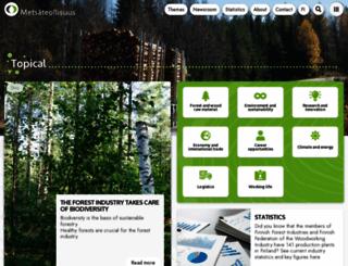 forestindustries.fi screenshot