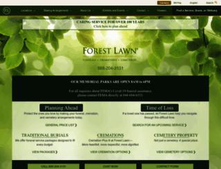 forestlawn.com screenshot