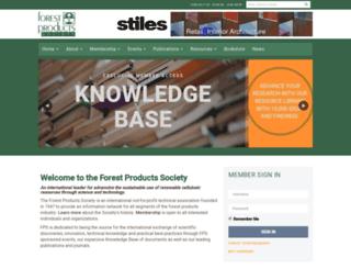 forestprod.org screenshot