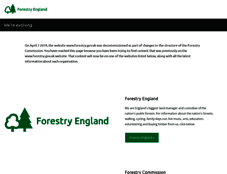 forestry.gov.uk screenshot