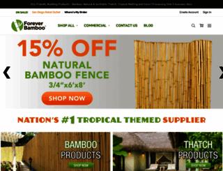 foreverbamboo.com screenshot