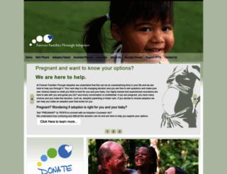 foreverfamiliesthroughadoption.org screenshot