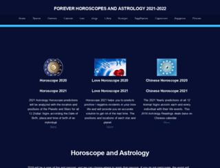 foreverhoroscopes.com screenshot