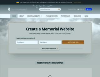 forevermissed.com screenshot