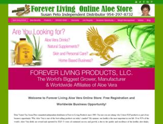 foreveronlinealoe.com screenshot