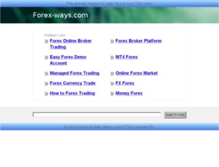 forex-ways.com screenshot