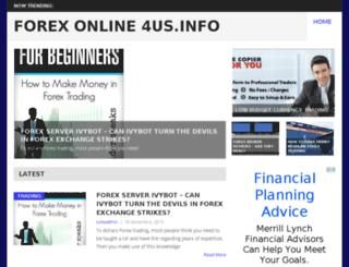 forex4usonline.info screenshot