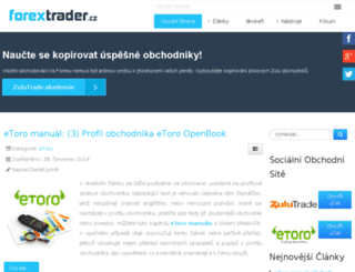 forextrader.cz screenshot