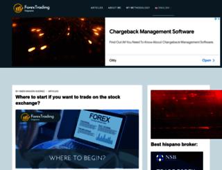 forextradinghispano.com screenshot