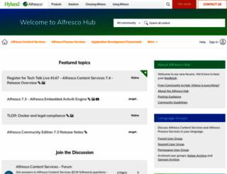 forge.alfresco.com screenshot