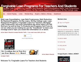 forgivable-loan-programs.webs.com screenshot