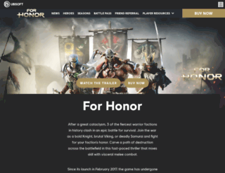 forhonor.ubisoft.com screenshot