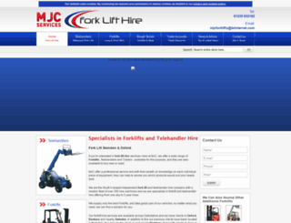 forkliftsandtelehandlerhire.co.uk screenshot