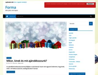 forma.co.hu screenshot