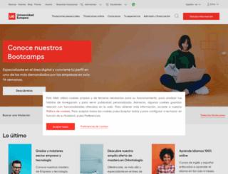 formacioncontinua.universidadeuropea.es screenshot