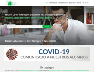 formacioncontinuaonline.com screenshot