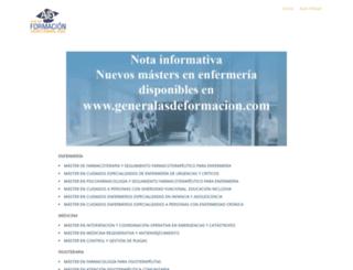 formacionpostgrado.com screenshot