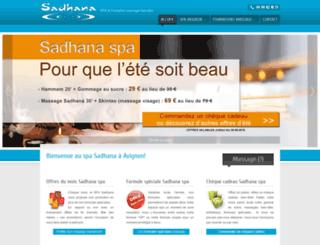 formation-massage-sadhana.com screenshot