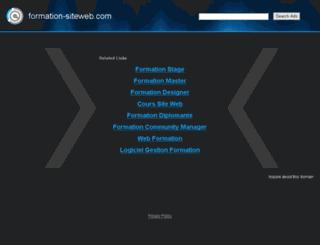 formation-siteweb.com screenshot