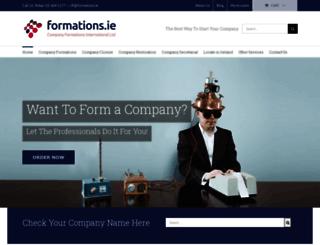 formations.ie screenshot