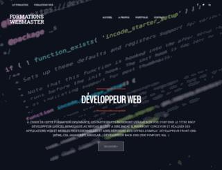 formationswebmaster.fr screenshot