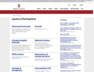 formazionelavoro.regione.umbria.it screenshot